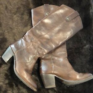 FRYE Brown Leather Jackie Button Boots SZ 6! (A547